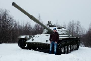 На танке