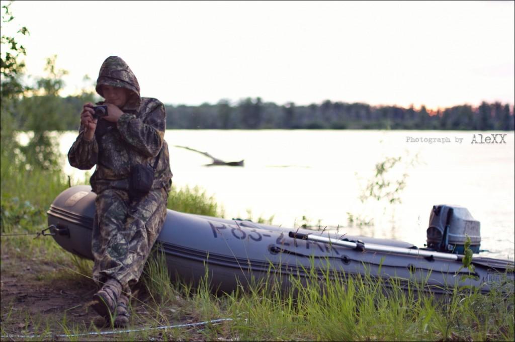 рыбалка, Обь, большая, вода, моторная, лодка