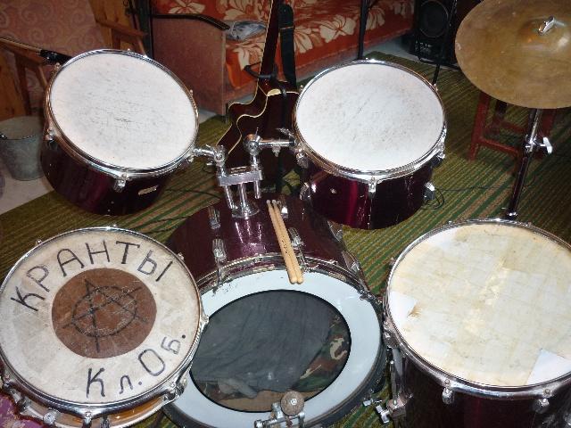 ударная, установка, барабаны